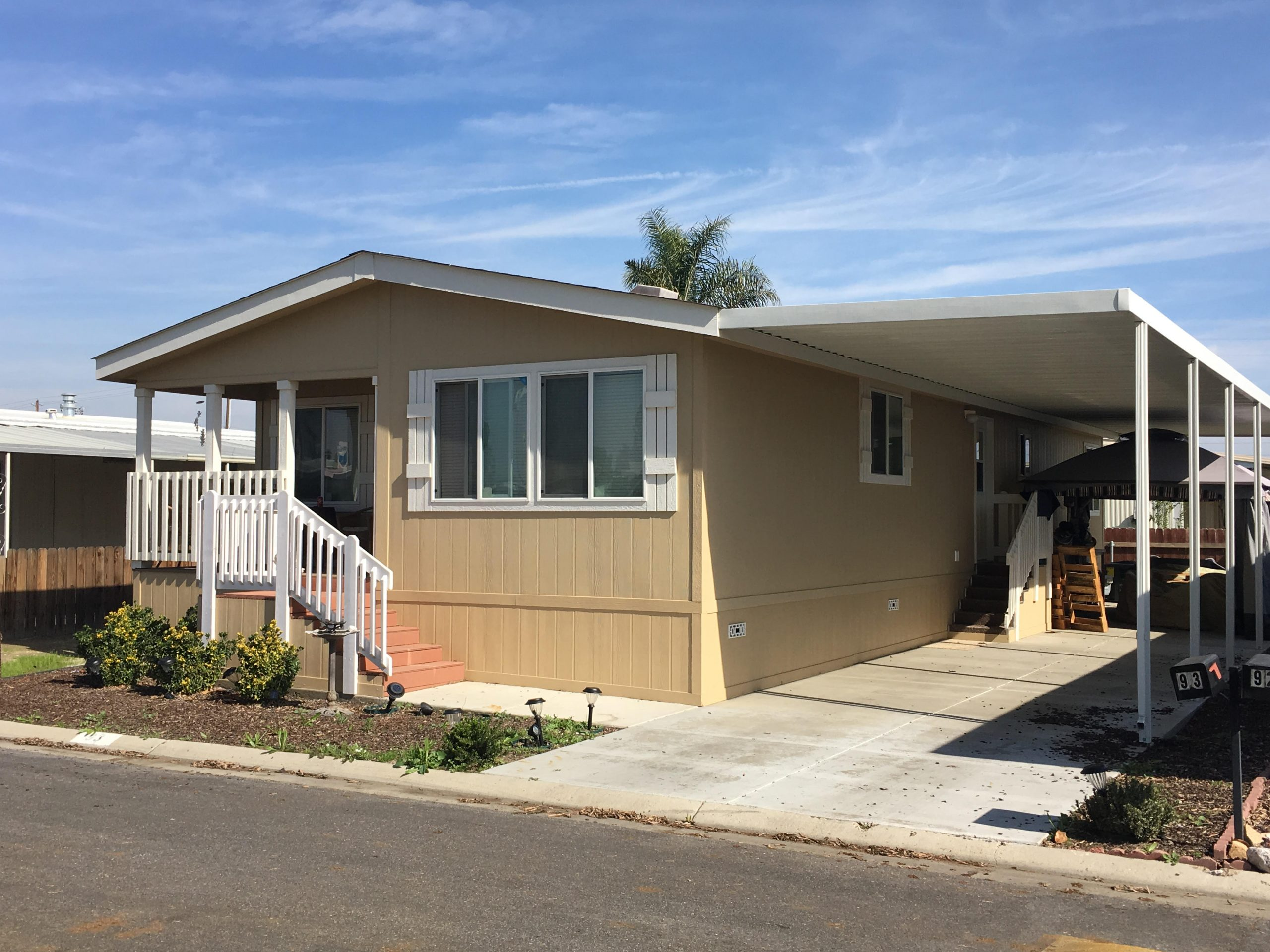 Mobile home double wide house model in Smoke Tree Mobile Estates